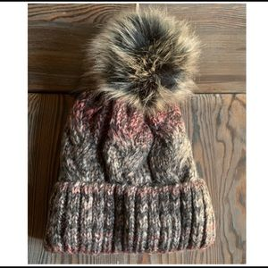 Village House Faux Fur Single Pom Boutique Beanie